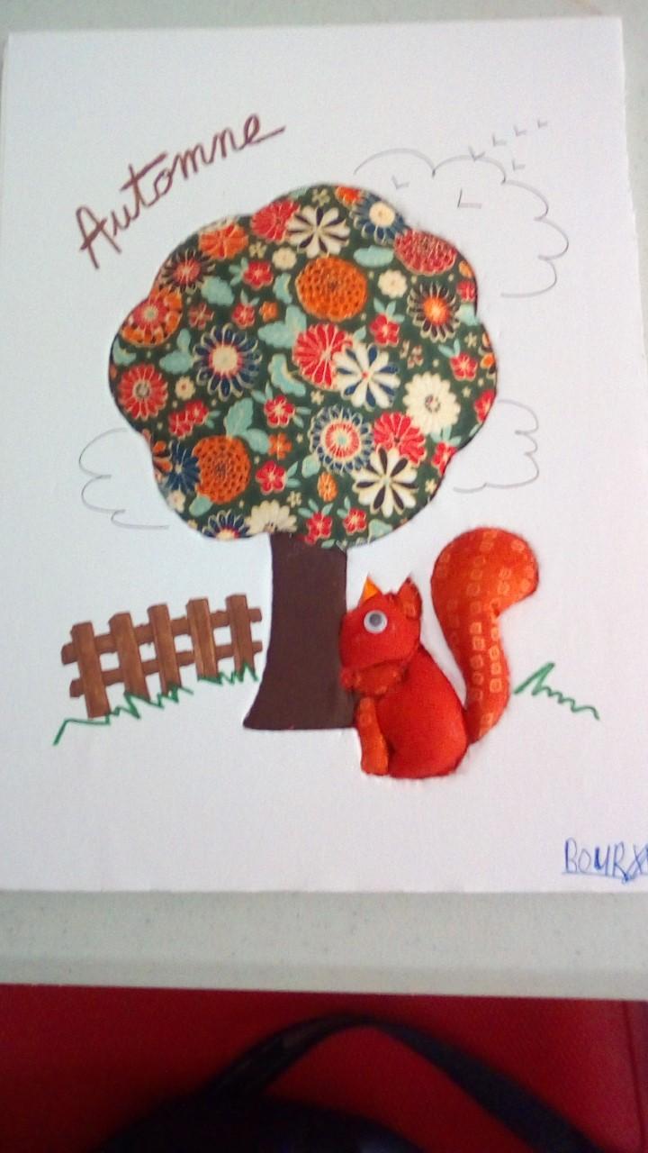 Carton plume automne