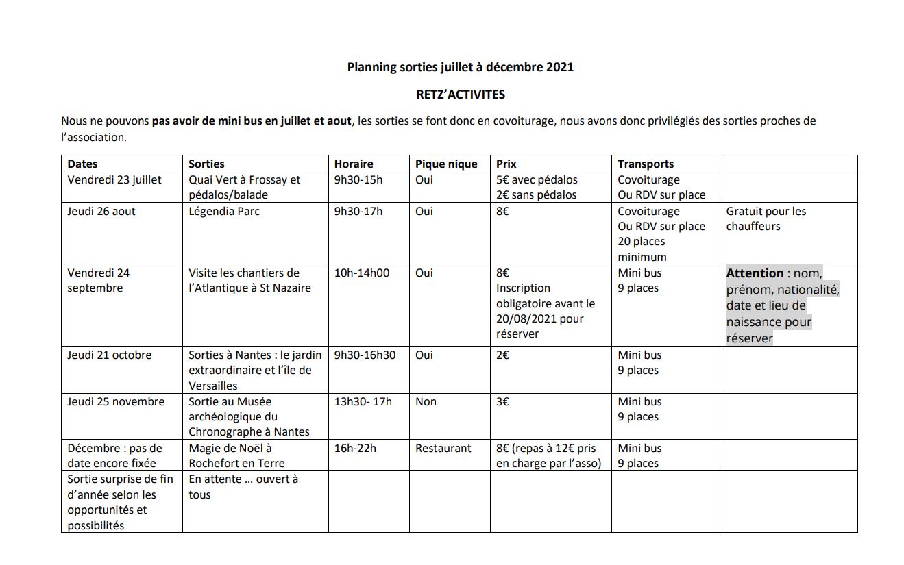 Planning sortie juillet a decembre2021